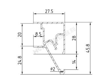 Профиль ПФ-6806 «Регулируемые световые линии Муравей»