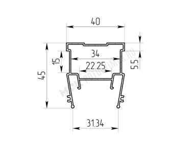 Профиль ПФ-6838 «Световые линии 3см»