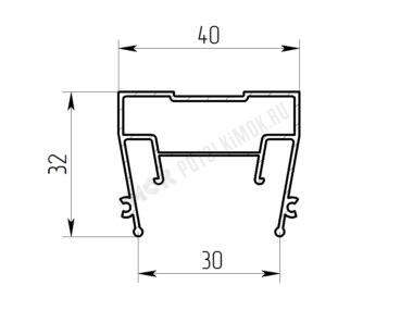 Профиль ПФ-7321 «Световые линии 3см Slim»