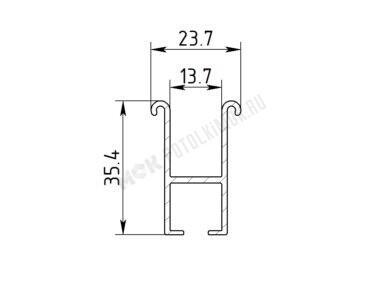 Профиль алюминиевый ГА-11-1