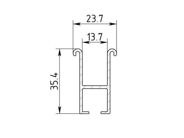 Профиль Алюминий ГА-11-1 однорядная