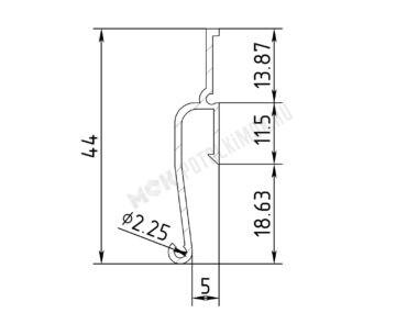 Профиль ПФ-7206 ЕвроФлекси стеновой теневой