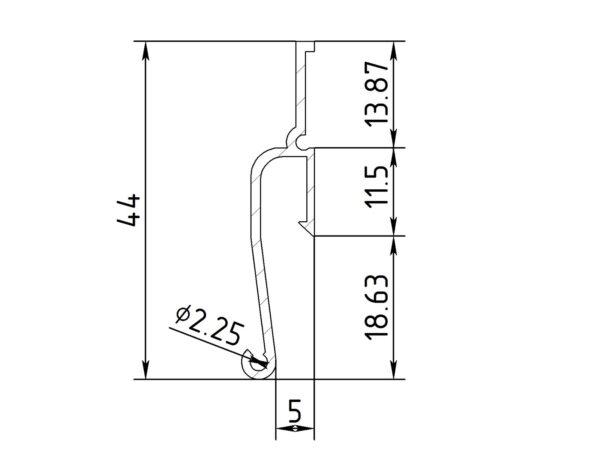 ПФ 0043 Стеновой ЕвроФлекси мини теневой