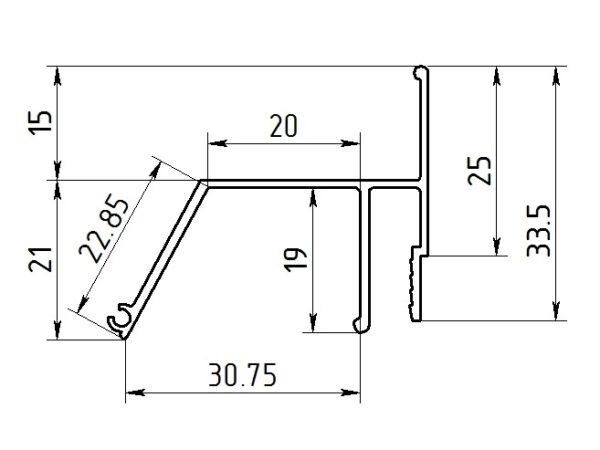 Профиль ПФ5642 Контурный