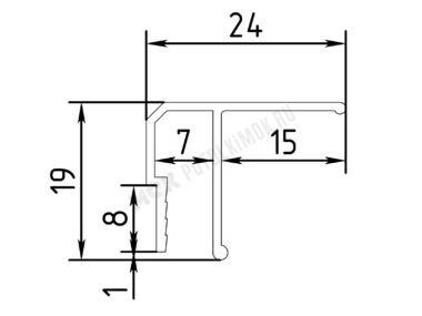 Профиль алюминиевый потолочный
