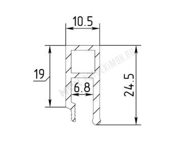 Профиль ПВХ Стеновой сверлёный вид 3 лёгкий