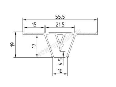 Профиль алюминиевый разделительный (вид А)
