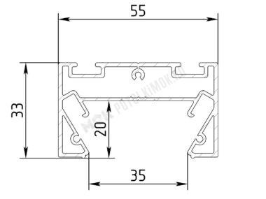 Профиль ПФ-8049 Трек-световая линия (35мм)