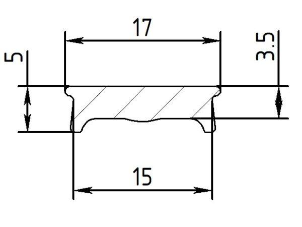 Вставка ПФ 6806 1.5 см флекси