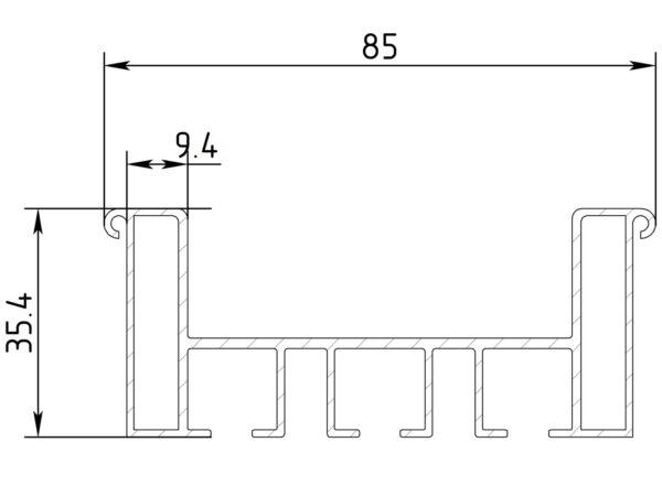 Гардина трехрядная ГА11-3 2.0