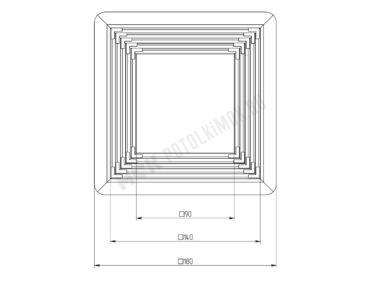 Платформа универсальная (квадрат) 90-140 мм
