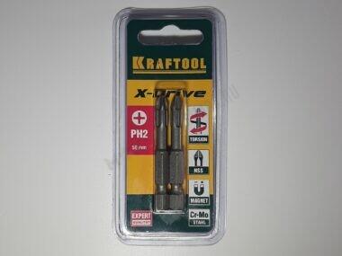 Биты KRAFTOOL (E 1/4″; PH 2; 50 мм; 2 шт.)