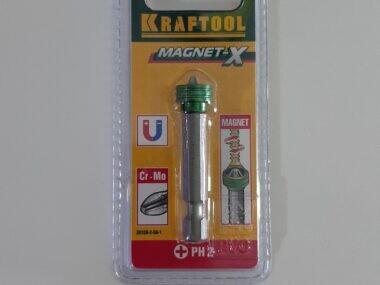 """Бита KRAFTOOL """"ЕХPERT"""", E 1/4″, PH2, 50мм, с магнитным держателем-ограничителем"""