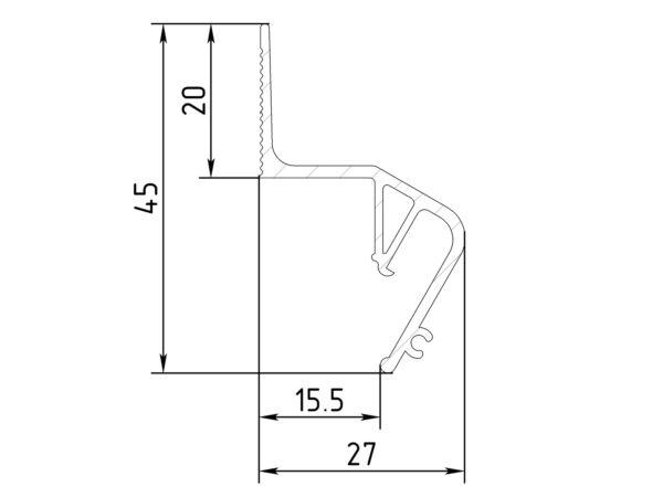 Профиль flexy пф 8406 парящий